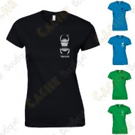 Camiseta trackable con Teamname, Mujer - Negra