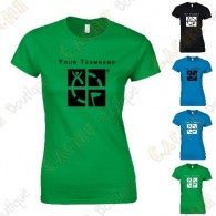 Camiseta con Teamname, Mujer - Negra