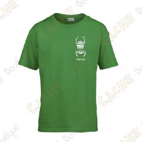 T-shirt trackable com seu Apelido, Criança - Preto