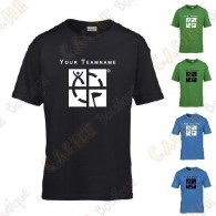 T-shirt with your Teamname, for Kids - Black