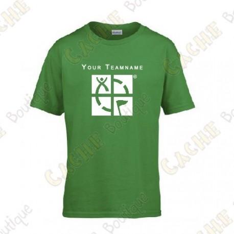 T-shirt com seu Apelido, Criança - Preto