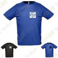 """T-Shirt technique trackable """"Discover me"""" Homme"""