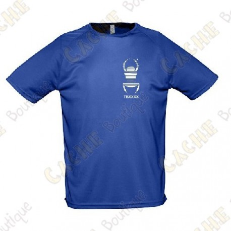 Trackable technical T-shirt with your Teamname, for Men - Black