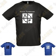 Technical T-shirt with your Teamname, for Men - Black