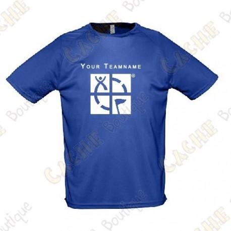 T-shirt técnica com seu Apelido, Homem - Preto