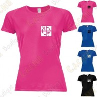 "Trackable ""Discover me"" technical T-shirt for Women - Black"