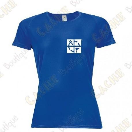 "T-shirt técnica trackable ""Discover me"" Mulher - Preto"