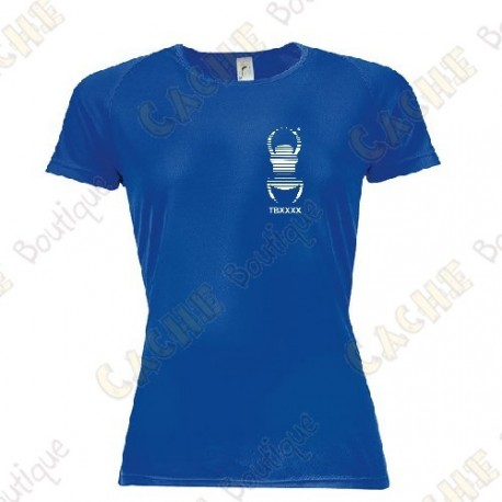 Trackable technical T-shirt with your Teamname, for Women - Black