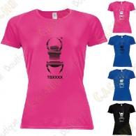 """T-Shirt technique trackable """"Travel Bug"""" Femme"""