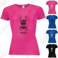 "Trackable ""Travel Bug"" technical T-shirt for Women - Black"