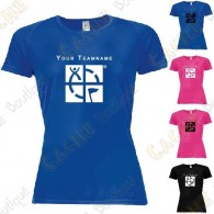 Technical T-shirt with your Teamname, for Women