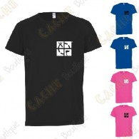 "Trackable ""Discover me"" technical T-shirt for Kids - Black"