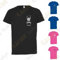 Trackable technical T-shirt with your Teamname, for Kids - Black