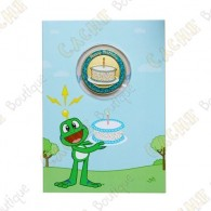 "Cartão conm Geocoin ""Happy Birthday"""