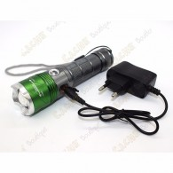 Cree flashlight 2000 lumen + UV - Rechargeable