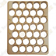 Wood coins tray - 35 fields
