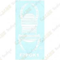 "Car TB sticker 8"" - White"