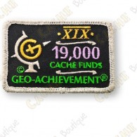 Geo Achievement® 19 000 Finds - Parche