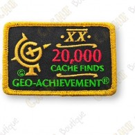 Geo Achievement® 20 000 Finds - Parche