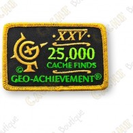 Geo Achievement® 25 000 Finds - Parche