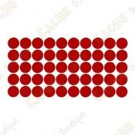 almofadas adesivas reflexivas - Vermelho