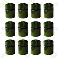 Nano Caches aimantées x 12 - Camouflage Vert