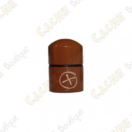 "Magnetic Nano Cache ""Geo"" - Brown"