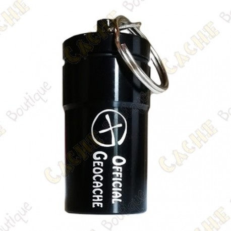 """Micro cache """"Official Geocache"""" 7 cm - Preta"""