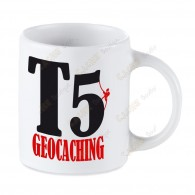 Geocaching white mug - T5