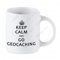 Geocaching white mug - Keep Calm