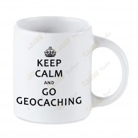 Taza Geocaching blanca - Keep Calm