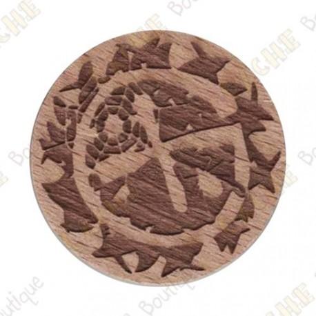 Wooden coin - Brushwoods