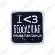 "Parche Trackable ""I love Geocaching"""