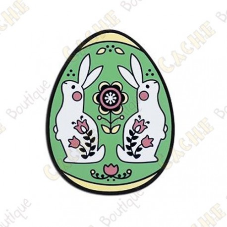 "Geocoin ""2019 Egg"" - Green"
