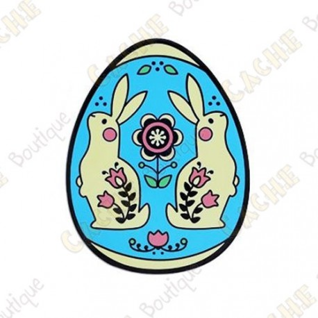 "Geocoin ""2019 Egg"" - Blue"