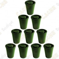 Waterproof film canister cache x10 - Green