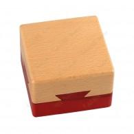 "Cache madera ""Caja secreta"" cuadrada"