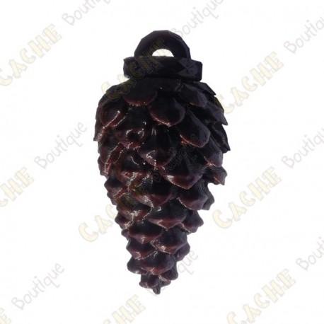 "Waterproof cache ""Pine cone"" - Dark brown"