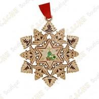 "Geocoin ""Signal ornament"" Snowflake - Decoration"
