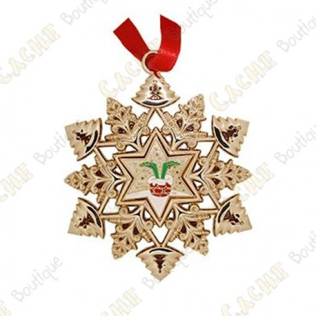 "Geocoin ""Signal ornament"" Snowflake - Chimney"