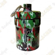 "Grosse micro cache ""Official Geocache"" 8 cm - Camouflage rouge"