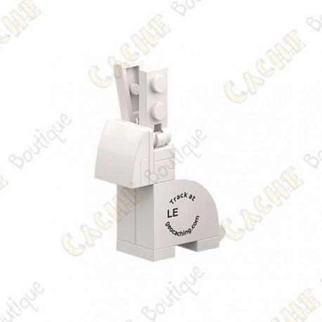 Trackable brick figure - White bunny