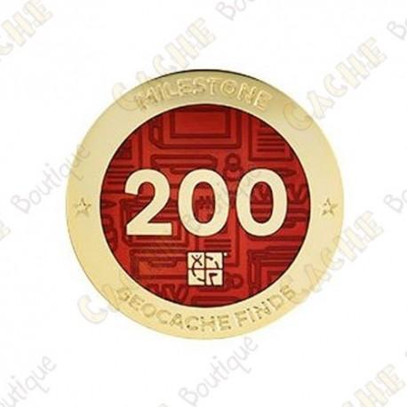 "Geocoin ""Milestone"" - 200 Finds"
