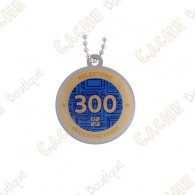 """Travel tag """"Milestone"""" - 300 Finds"""