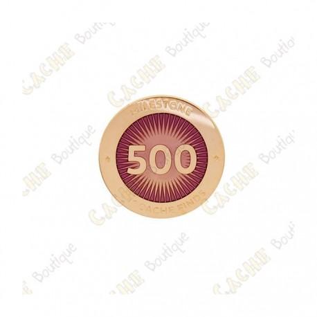 """Pin's """"Milestone"""" - 500 Finds"""
