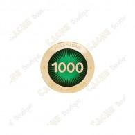 """Pin's """"Milestone"""" - 1000 Finds"""