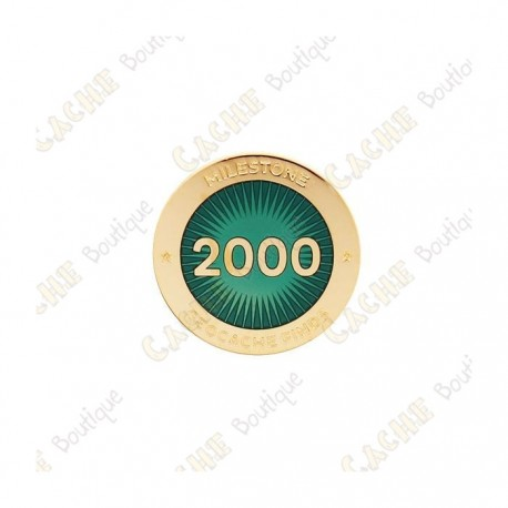 "Pin's ""Milestone"" - 2000 Finds"