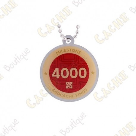 """Travel tag """"Milestone"""" - 4000 Finds"""