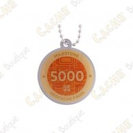 "Travel tag ""Milestone"" - 5000 Finds"