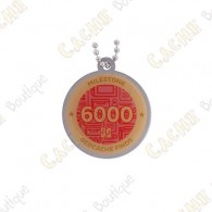 """Travel tag """"Milestone"""" - 6000 Finds"""